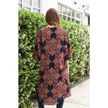 Moroccan Print Kimo Navy - The GyPsY Barn Boutique