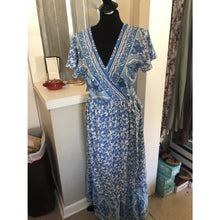 Paisley Blue Dress - The GyPsY Barn Boutique