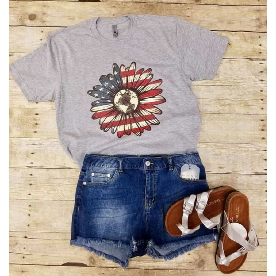 Patriotic Sunflower - The GyPsY Barn Boutique