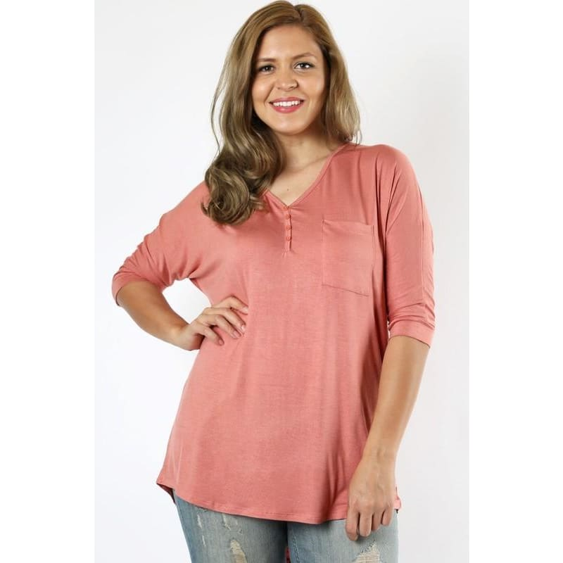 Plus size button down - The GyPsY Barn Boutique