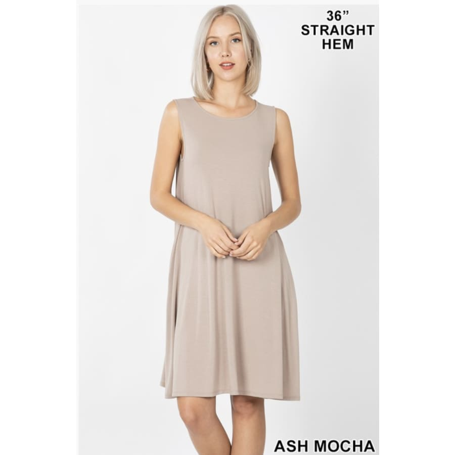 Sleeveless Dress Ash Mocha - The GyPsY Barn Boutique