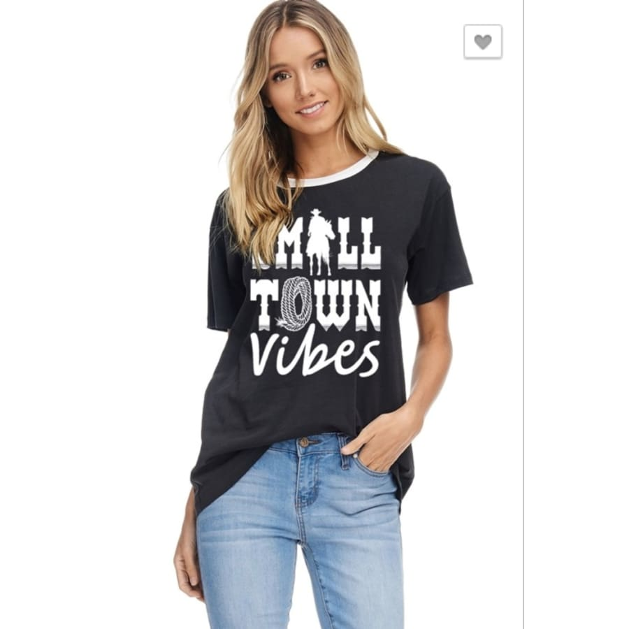 Small Town Girl Vibes Blk - The GyPsY Barn Boutique