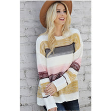 Stripe Knit Sweater - The GyPsY Barn Boutique