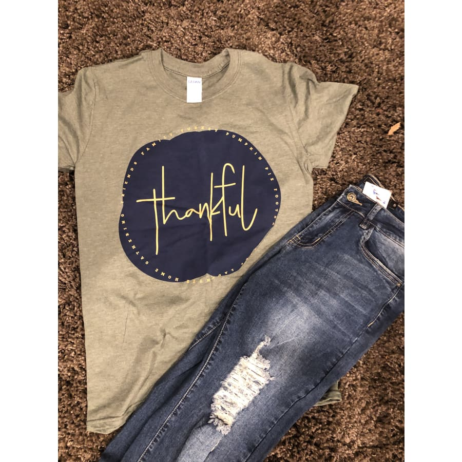 Thankful Tee - Small - Tops