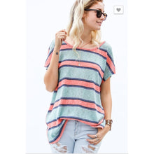 Twist Back Stripe - Tops