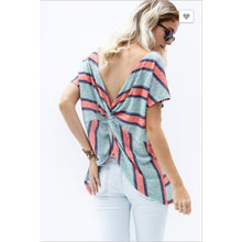 Twist Back Stripe - Small - Tops