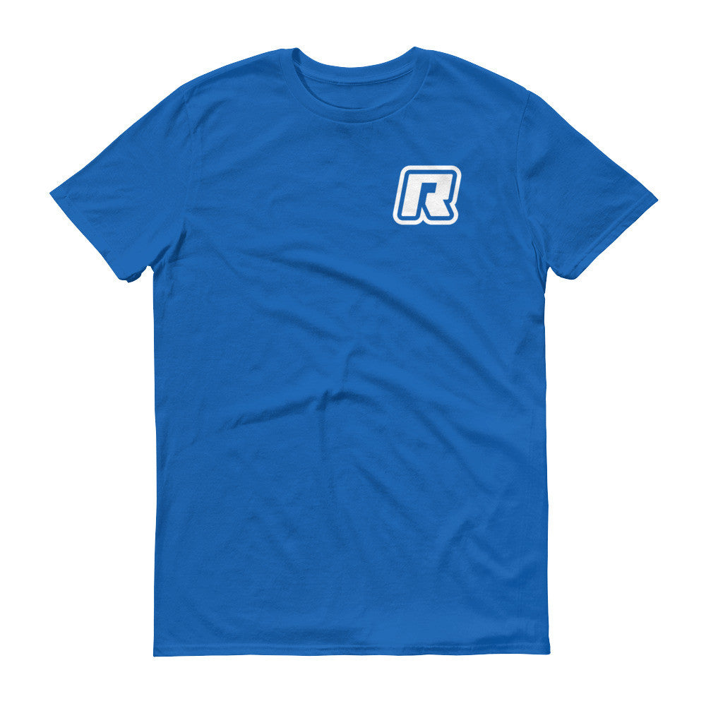 RevizeCo Logo Heart T-Shirt - Wht On Royal Blue