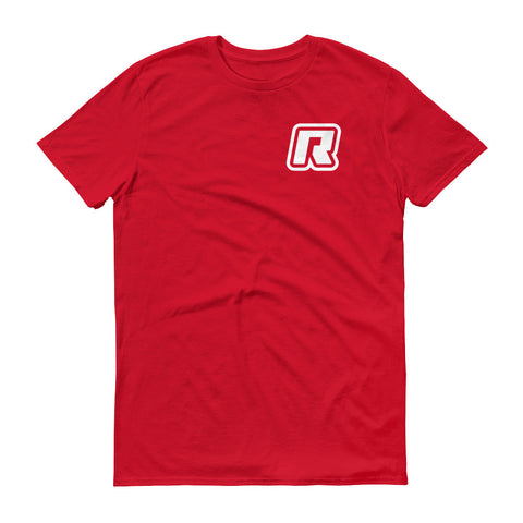 RevizeCo Logo Heart T-Shirt - Wht On Red