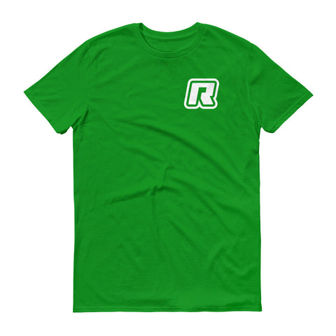 RevizeCo Logo Heart T-Shirt - Wht On Grn