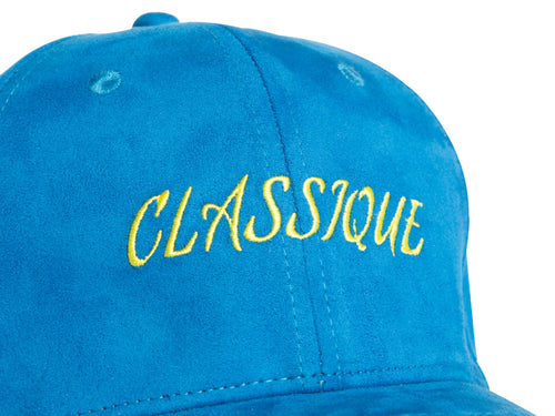 ROYAL BLUE SUEDE CAP