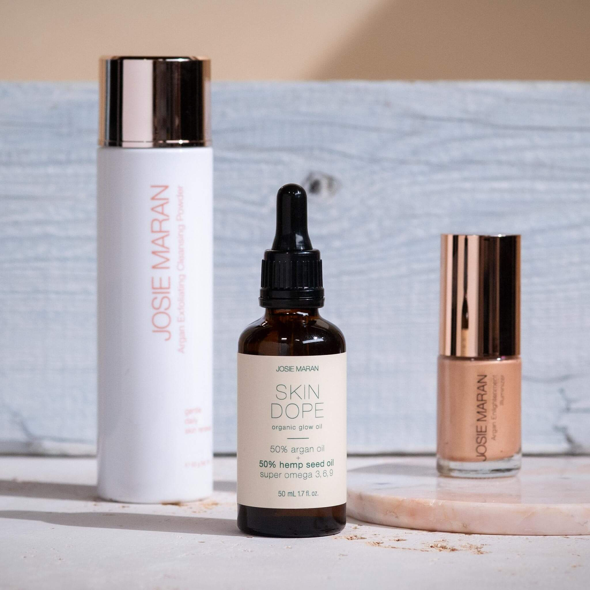 Argan Oil & Natural Skincare and Cosmetics Products by Josie