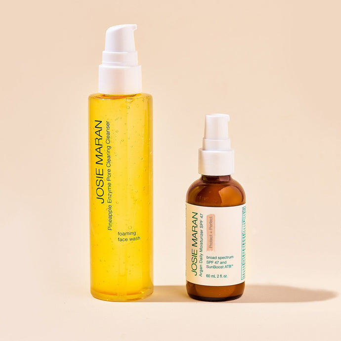 Pineapple Glow Cleanse and Protect Duo