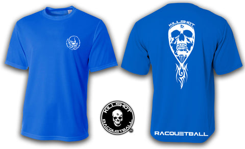 Killshot Racquetball |Skull Racquet Performance T- Short Sleeve