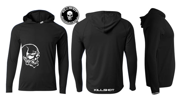 Killshot Racquetball Performance Hoodie - T- Long Sleeve | Skull