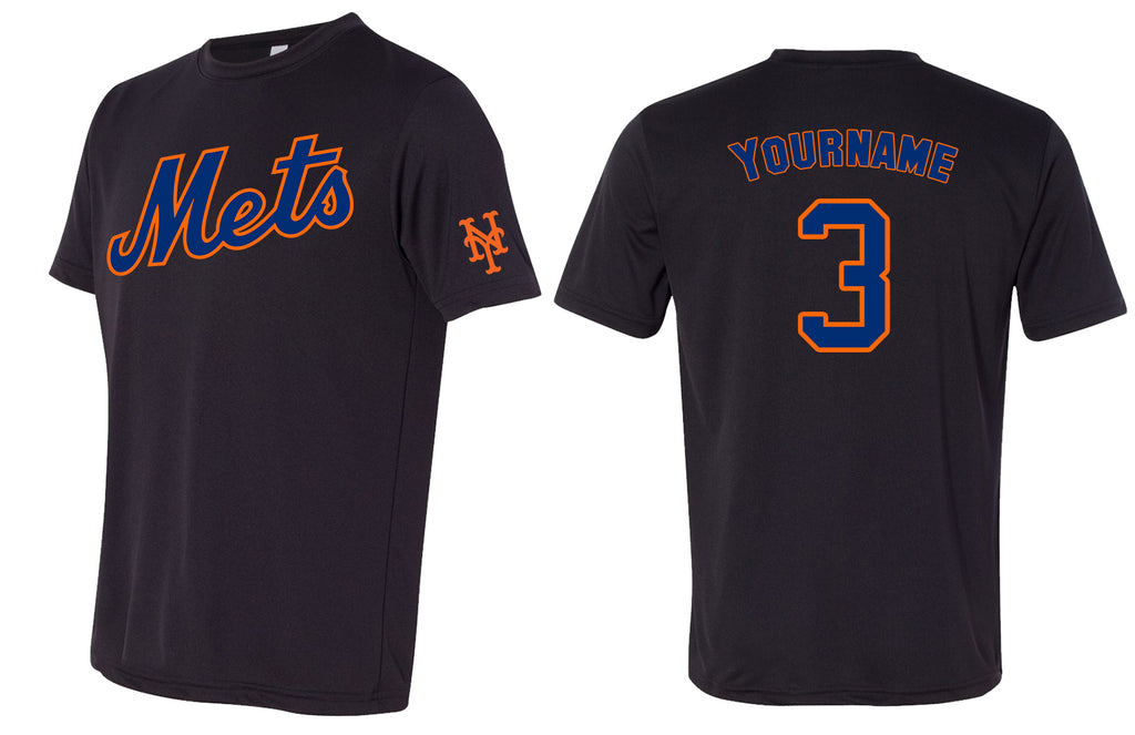 Custom Mens Senior League Baseball Jersey | Mets | White | Dri Fit