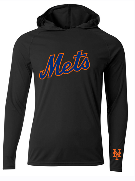 Custom Mens Senior League Baseball Jersey | Mets | Practice Shirt | Long Sleeve