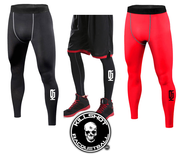 Killshot Racquetball | Men's-Sport-Racquetball- Under-Compression-Long-Pants-Athletic-Wear