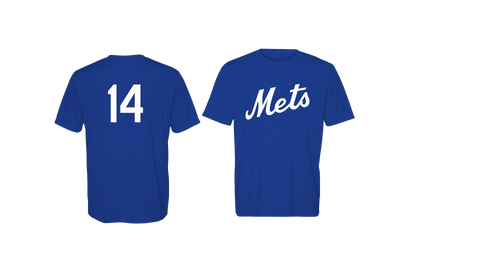 Custom Mens Senior League Baseball Jersey | Mets | Tournament Shirt