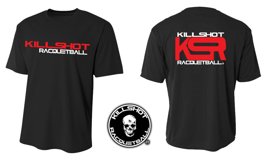 Racquetball Performance T- Short Sleeve  | KSR KillShot Red - KSR