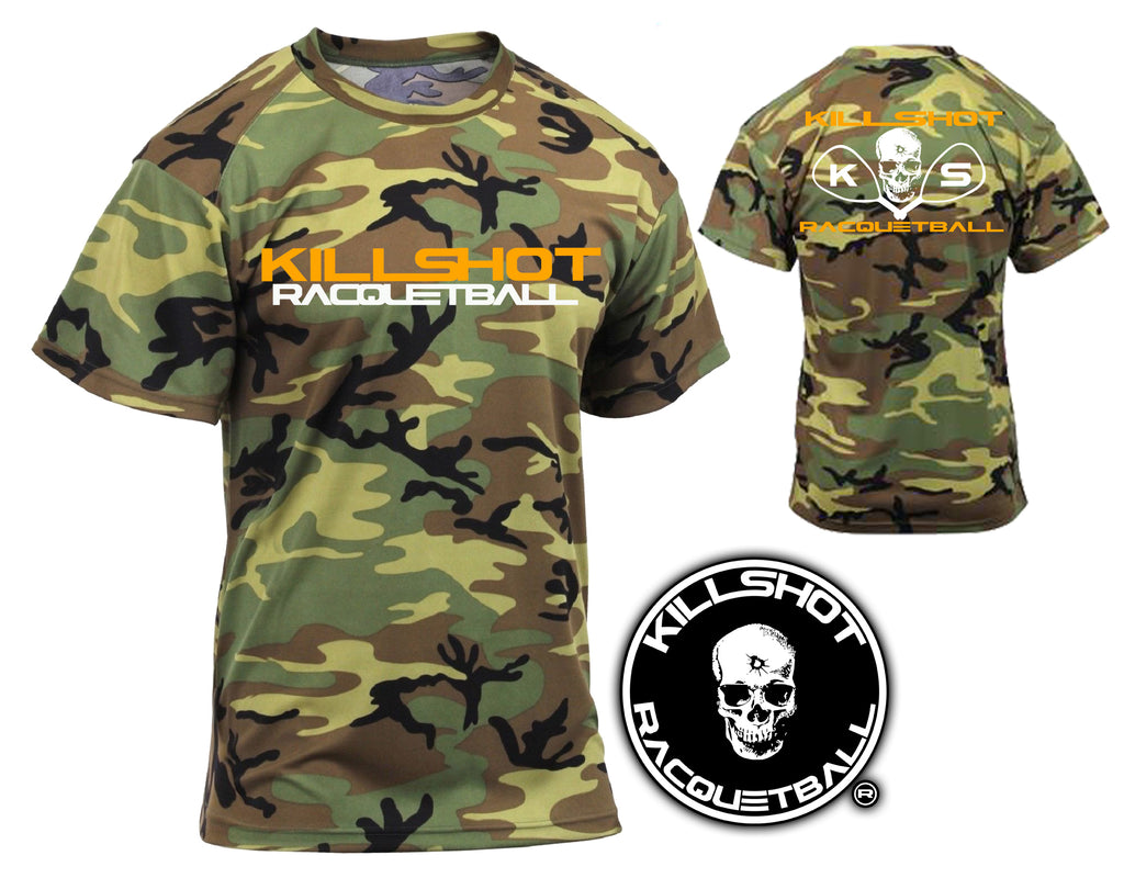 Killshot Racquetball | Performance T Camo | Woodland