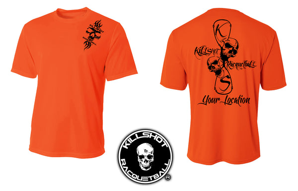 Killshot Racquetball Performance T- Short Sleeve | Customize Your Shirt with your Location