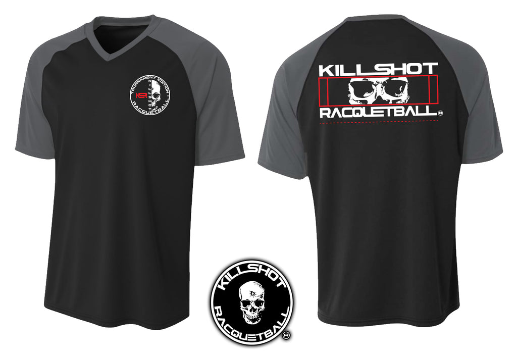 Killshot Racquetball | Performance T V-Neck | Half Court
