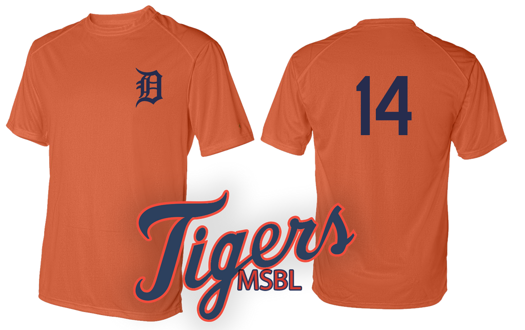 Custom Mens Senior League Baseball Jersey | Tigers | Practice Shirt