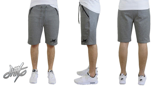 JIML Apparel | Mens Tech Fleece Shorts With Zipper Pockets Active Performance Sports Basketball