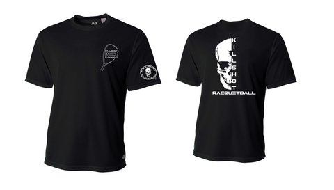 Killshot Racquetball | Half Skull Performance T- Short Sleeve