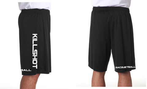 "Killshot Racquetball | Cooling Performance Shorts Black 9"" inseam"