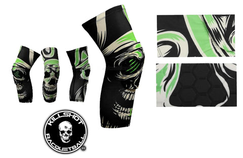 Killshot Racquetball | Skull Honeycomb Knee Pad Crashproof Antislip Basketball Leg Sleeve Protector Gear