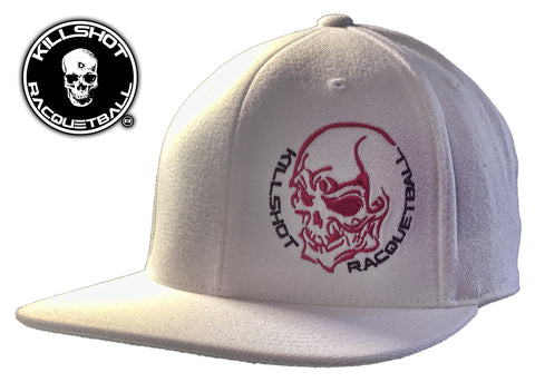Killshot Racquetball | Skull White | Flexfit Adult Wool Blend Snapback Cap