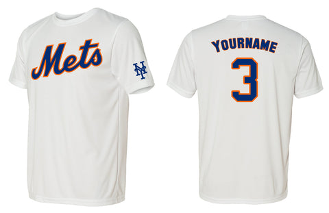 Custom Mens Senior League Baseball Jersey | Mets | Dri-Fit