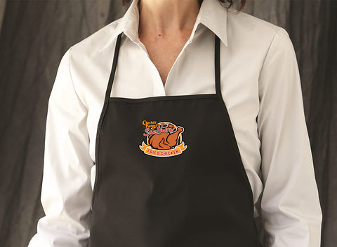 Cracker Barrel - Fried Chicken - Adjustable Neck Strap Three Pocket Apron - 5507 - Black