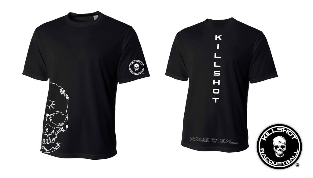 Killshot Racquetball | Performance T | Half Skull Front