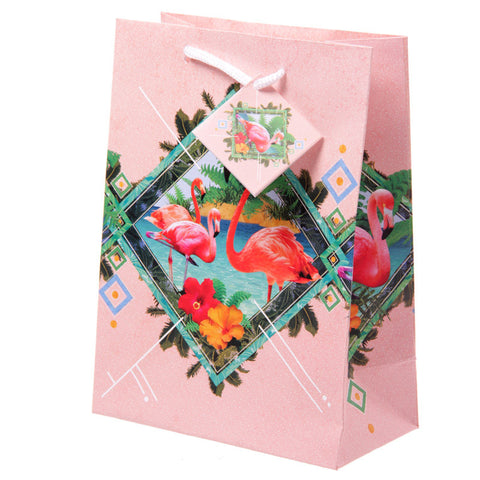 Funky Flamingo Medium Glossy Gift Bag