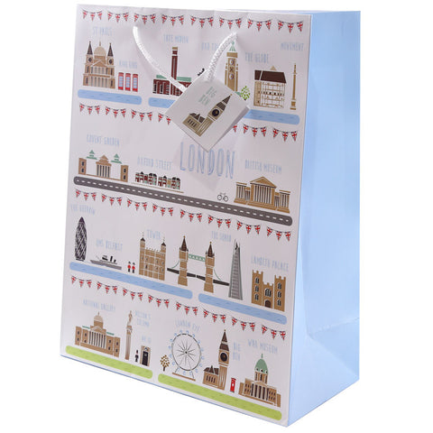 Fun London Design Large Glossy Gift Bag