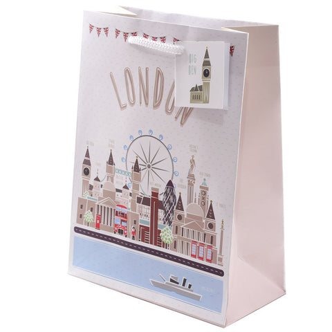 Fun London Design Medium Glossy Gift Bag