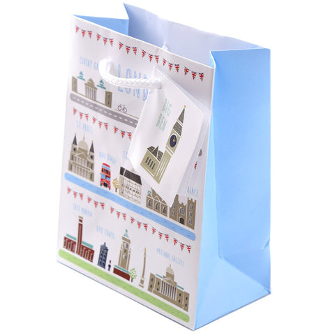 Fun London Design Small Glossy Gift Bag