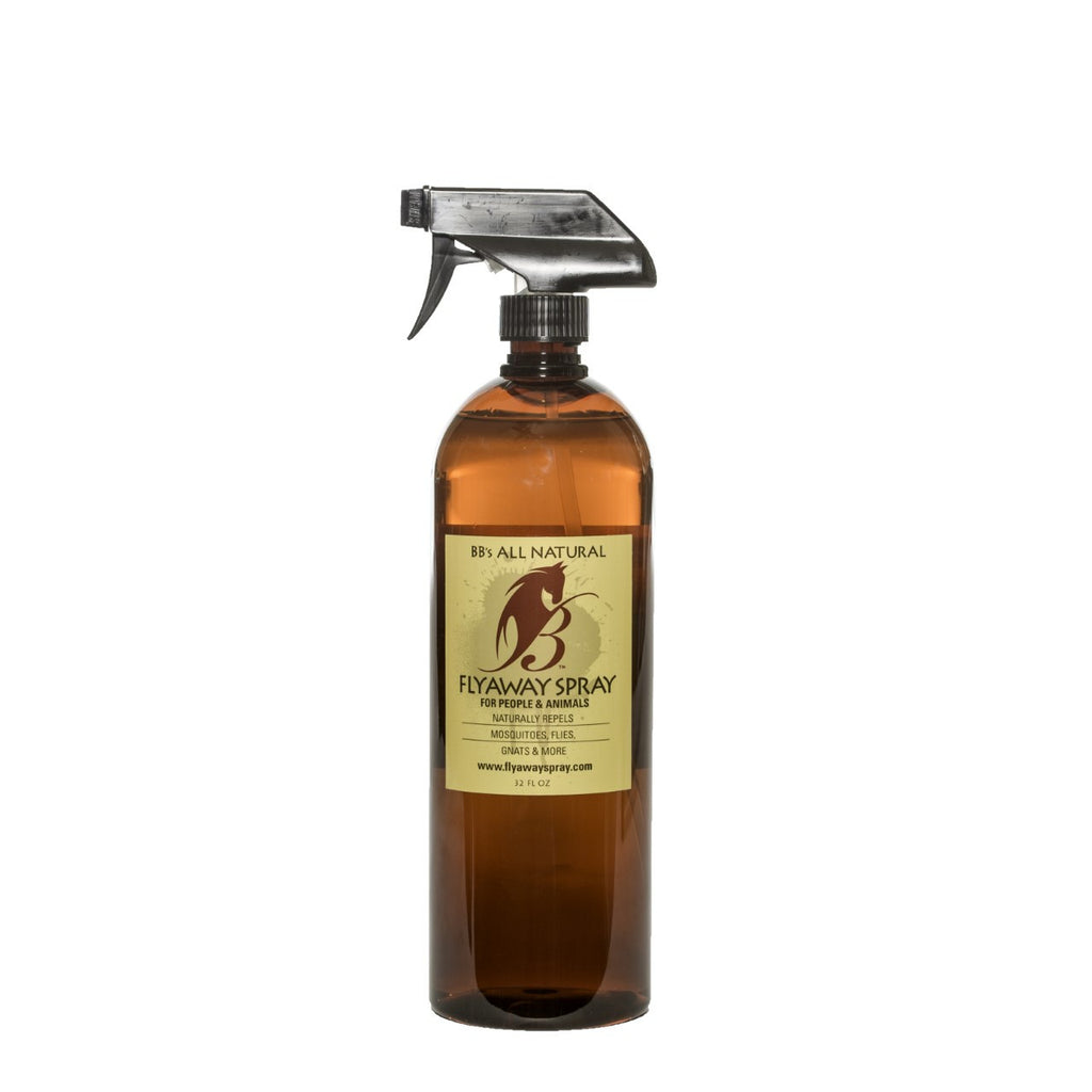 For Your Horse's Coat: Natural Fly Repellent 32oz Spray Bottle