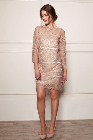 [AW17] PEARL LINE LACE DRESS