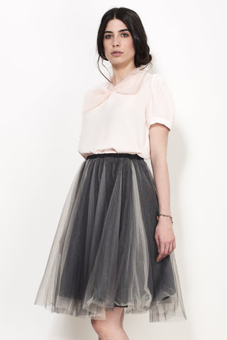 NET SHEER SKIRT