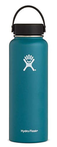 Hydro Flask 40 oz Water Bottle - Stainless Steel & Vacuum Insulated - Wide Mouth with Leak Proof Flex Cap - Jade: Gateway
