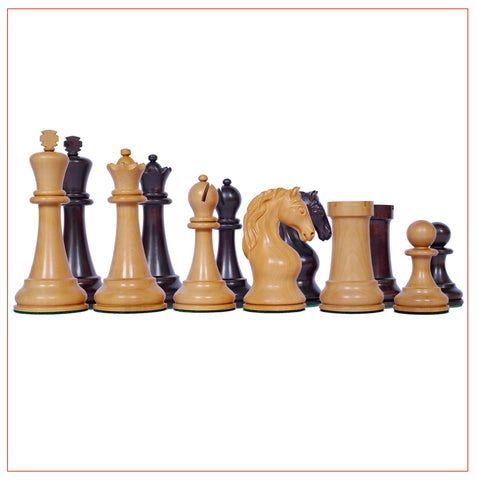 Piatigorsky 1966 Reproduction 4.5″ Staunton Chess Pieces - The Chess Store