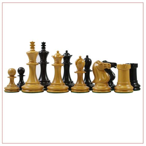1867 Small Club Library 3.275″ Chess Pieces - The Chess Store