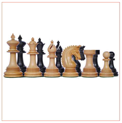 Miletus Series Ebony Wood Chess Pieces - The Chess Store