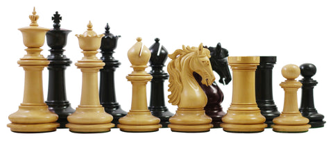 "Kelso Series Ebony & Boxwood 4.4"" King Chess Pieces - The Chess Store"