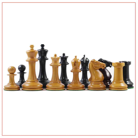 Reproduction Circa 1854 Staunton Chess Pieces - The Chess Store