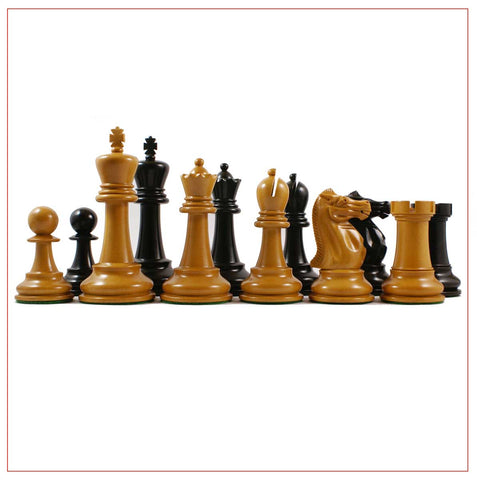 4″ Circa 1900-15 Staunton Antique Chess Pieces - The Chess Store