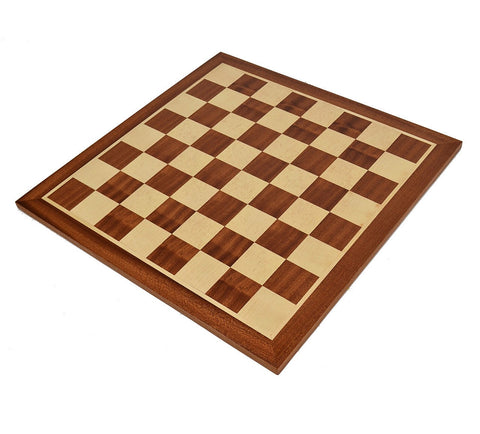 20.5 Inch Mahogany & Sapele Wood Chess Board - The Chess Store